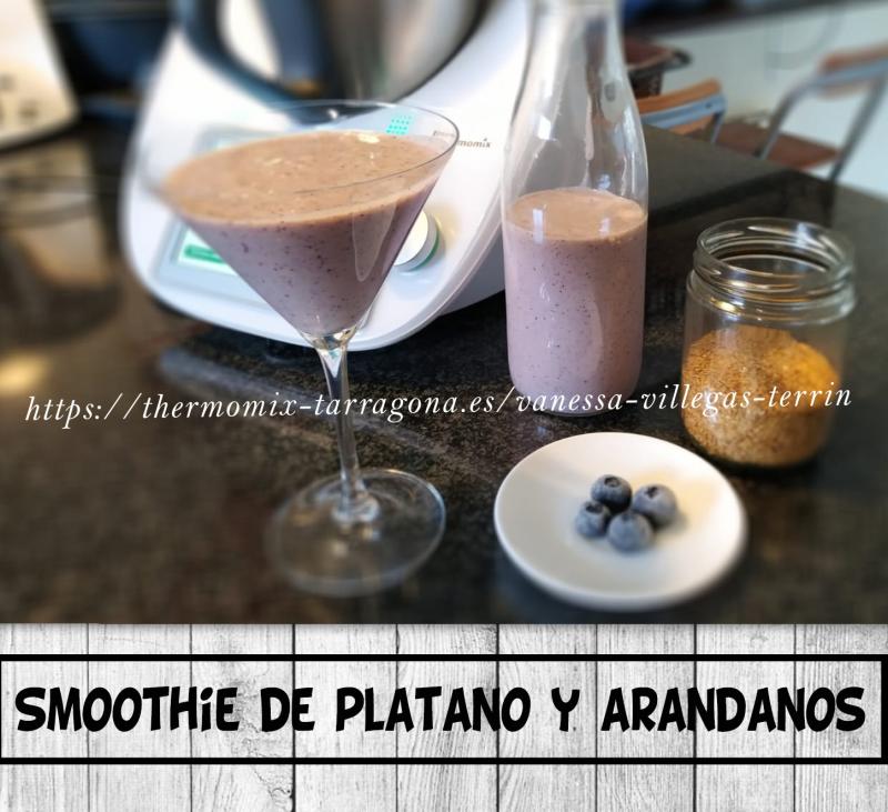 Receta Thermomix® - SMOOTHIE de plátano y ARÁNDANOS