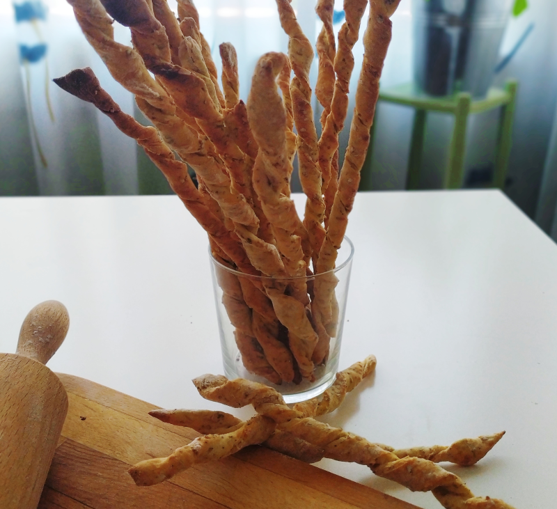 Colines con hierbas aromáticas y sésamo con Thermomix®