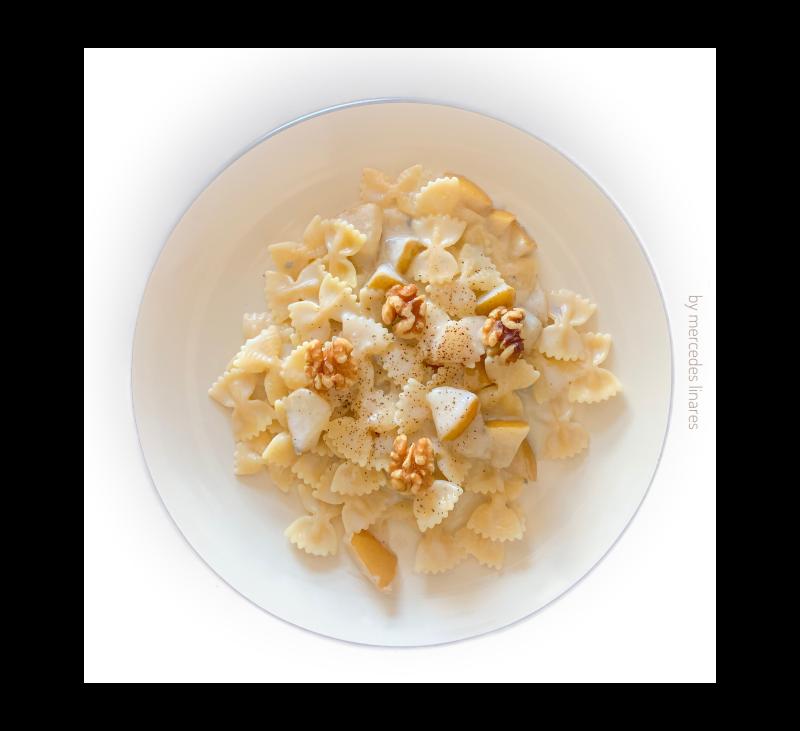 Pasta con peras y queso Gorgonzola