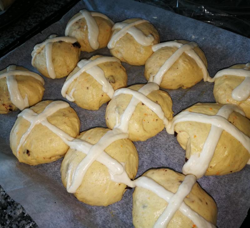Dulce en Semana Santa...Hot Cross Buns