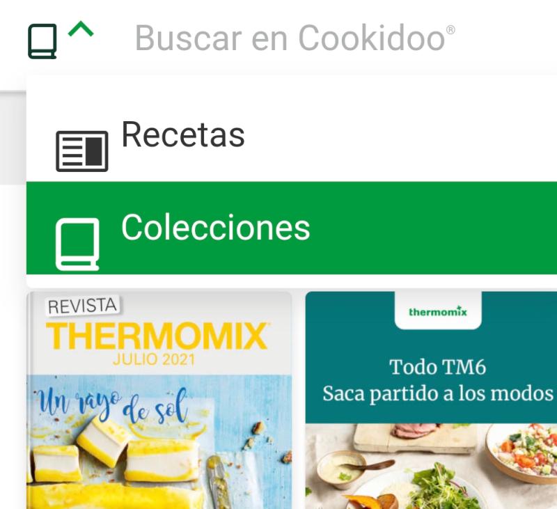Añadir colecciones de recetas Thermomix® en cookidoo.es