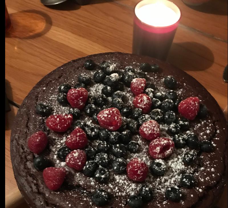 Pastel de chocolate vegano