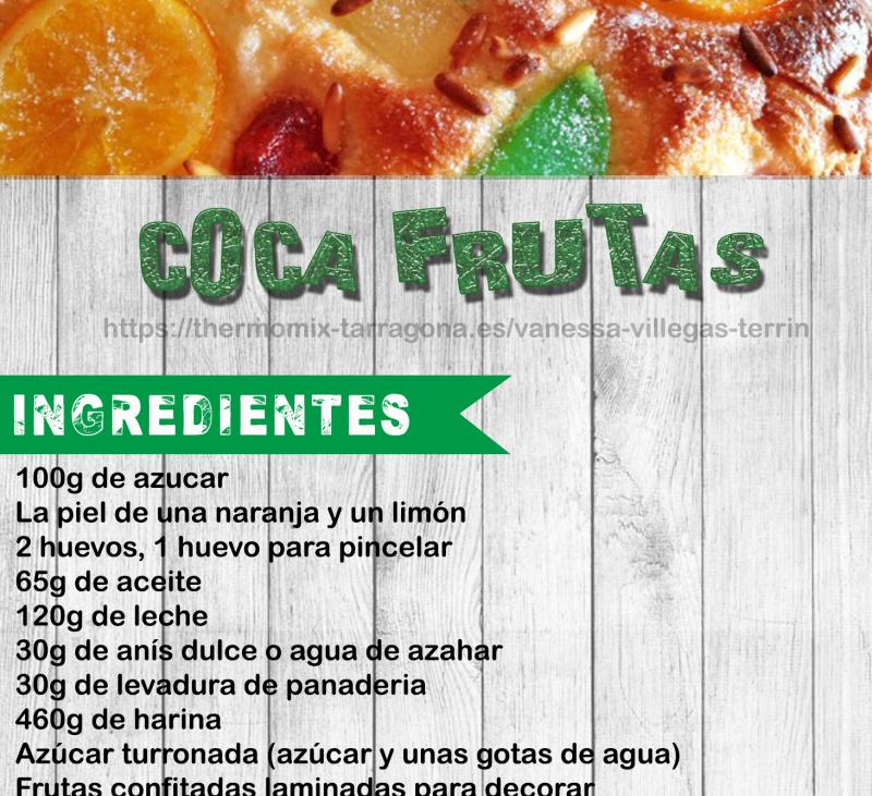 Receta Thermomix® - Coca de frutas - Verbena de San Juan