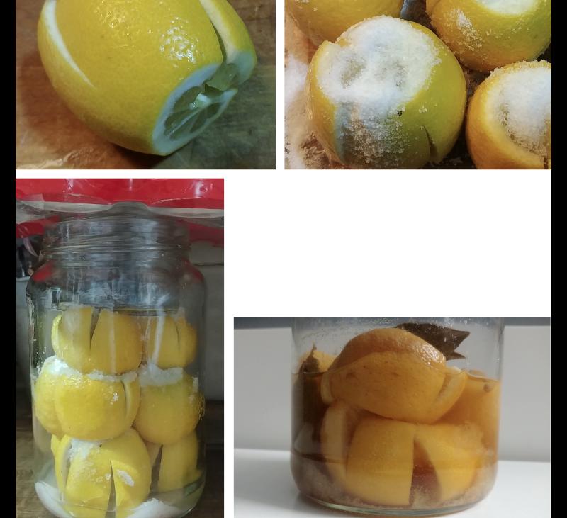 Conservar alimentos. Limones encurtidos
