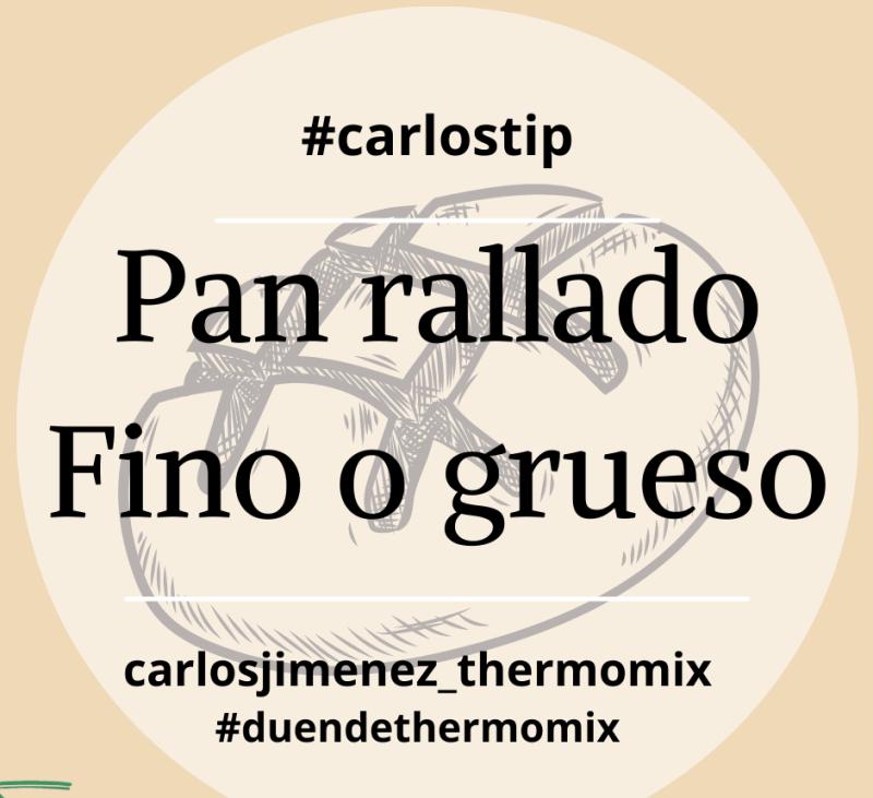 RALLAR PAN FINO O GRUESO EN Thermomix® . BADAJOZ, VILLANUEVA DE LA SERENA, DON BENITO, MERIDA.