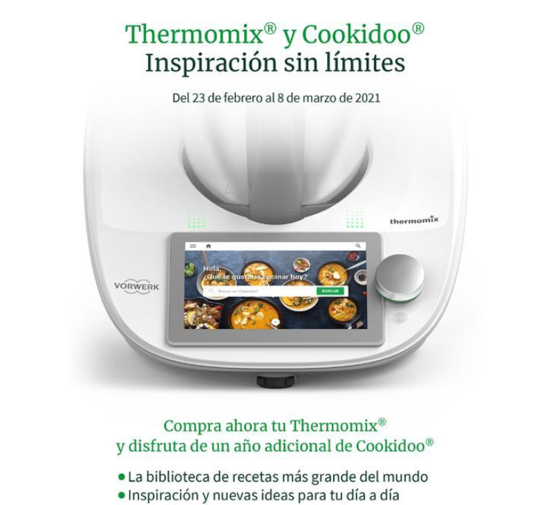 Thermomix® con 18meses gratis de cookidoo