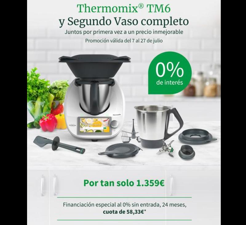 Thermomix® TM6 Y SEGUNDO VASO COMPLETO + 0% DE INTERES