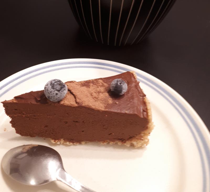 Tarta de boniato y chocolate