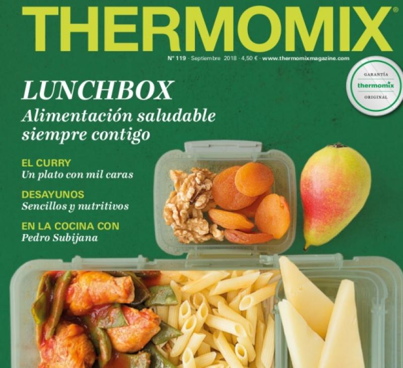 """Nuevo nuevo Thermomix® Magazine """"Lunch box"""" alimentación saludable"""
