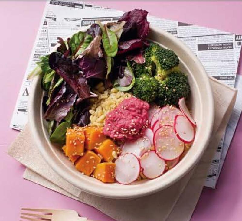 Boles de verduras, hidratos, proteínas, legumbres y frutas, todo en uno