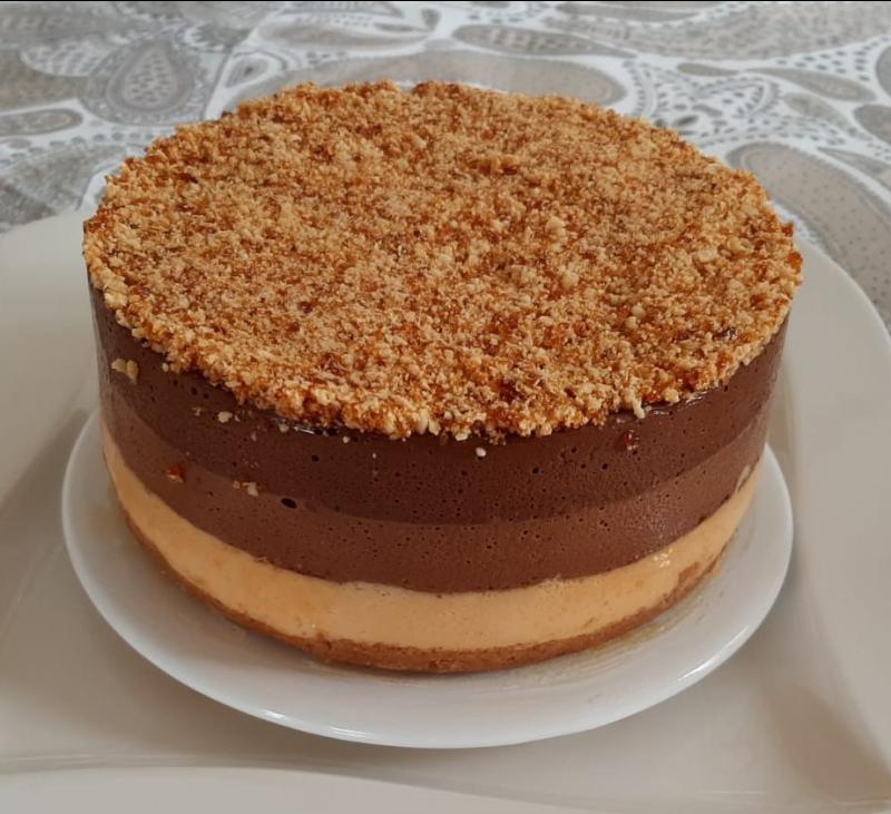 Tarta a los tres chocolates con CROCANTI (TM6)