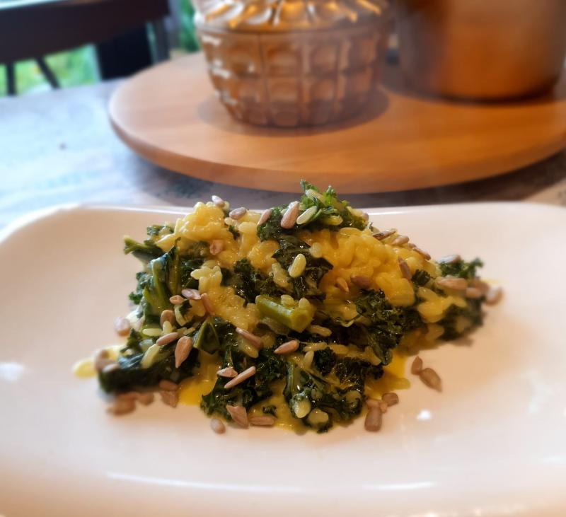 Risotto de Kale y Espárragos