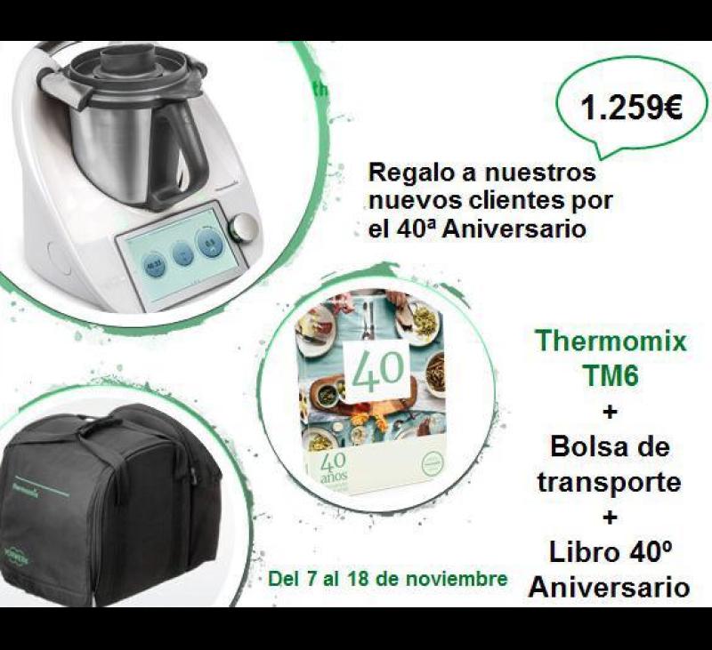 Thermomix® TM6 CON REGALO DE BOLSA DE TRANSPORTE Y LIBRO 40 ANIVERSARIO