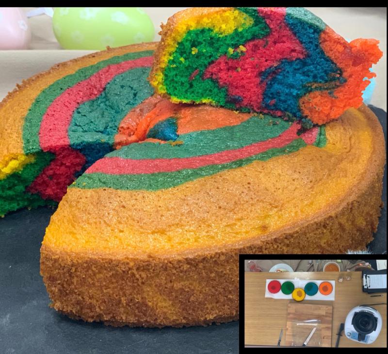Rainbow cake amb Thermomix®