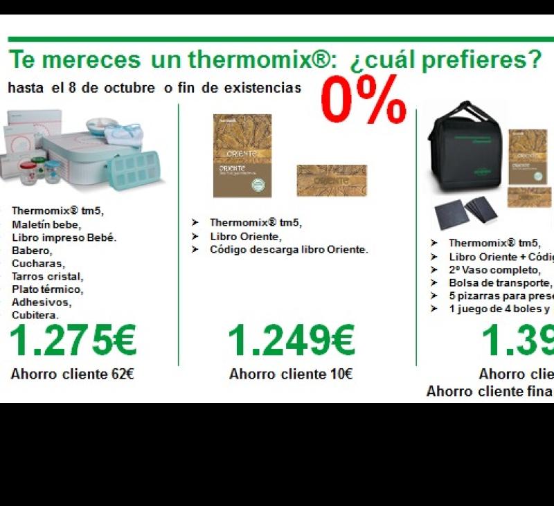 TU Thermomix® SIN INTERESES. CORRE QUE VUELAN!!! HASTA 22 DE OCTUBRE O FIN DE EXISTENCIAS