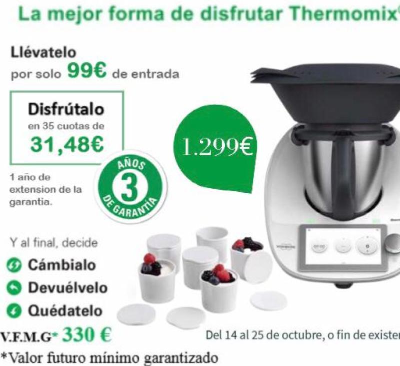 Promoción TM6 por 1.299€ regalo set ramequines con tapa. Finaliza el lunes 25/10/2021. #Thermomix®