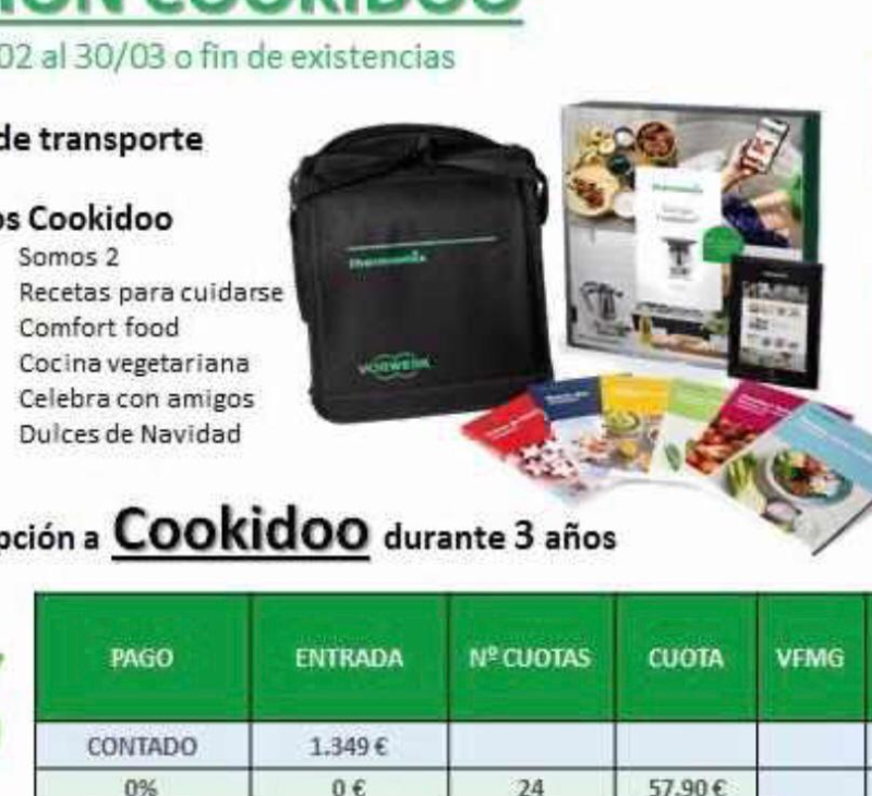Thermomix® 0% interes 3 años de cookidoo