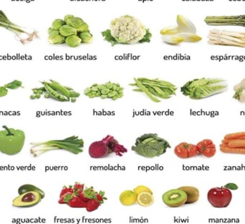 ABRIL - FRUTAS Y VERDURAS DE TEMPORADA EN ESPAÑA