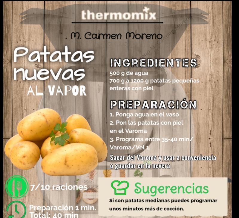 ¿Cómo hacer las patatas nuevas al Vapor?