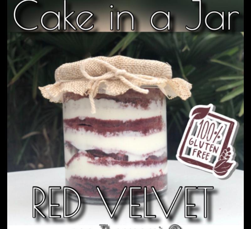 CAKE IN A JAR RED VELVET SIN GLUTEN CON Thermomix®