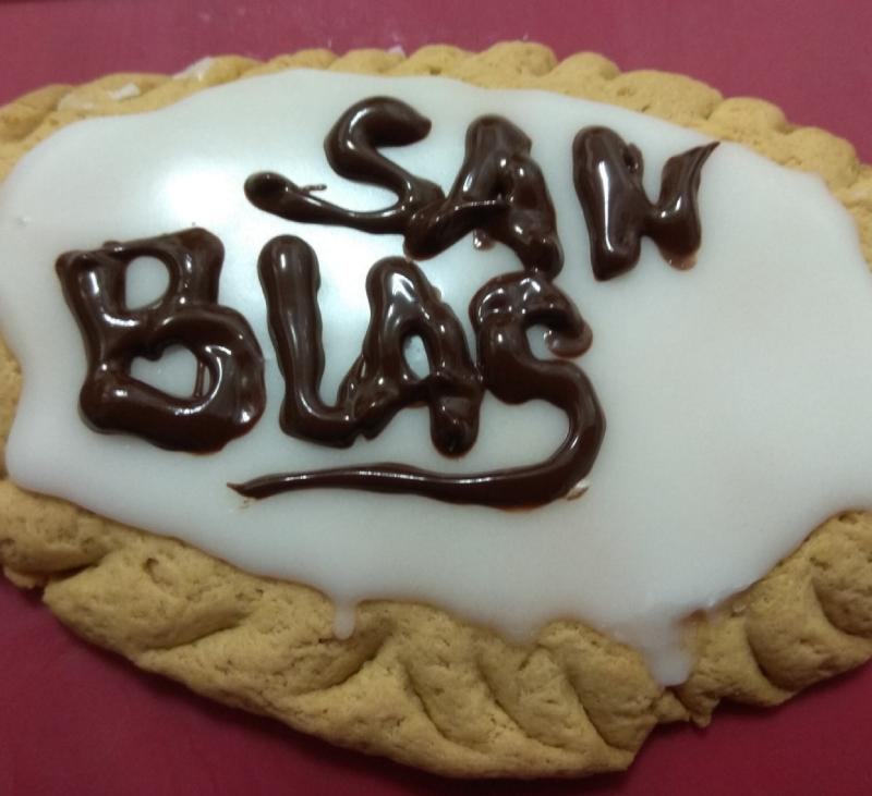Torta de San Blas sin gluten