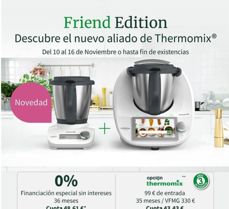 Thermomix® y Thermomix® Friend ¡Sin Intereses!