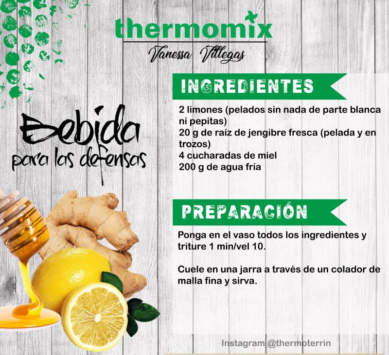 Receta Thermomix® - Bebida para las defensas