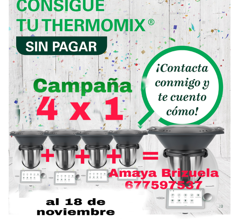 Campaña 4x1 consigue tu TM6 sin pagar