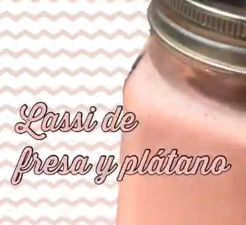 BATIDO FRESA Y PLÁTANO CON Thermomix®