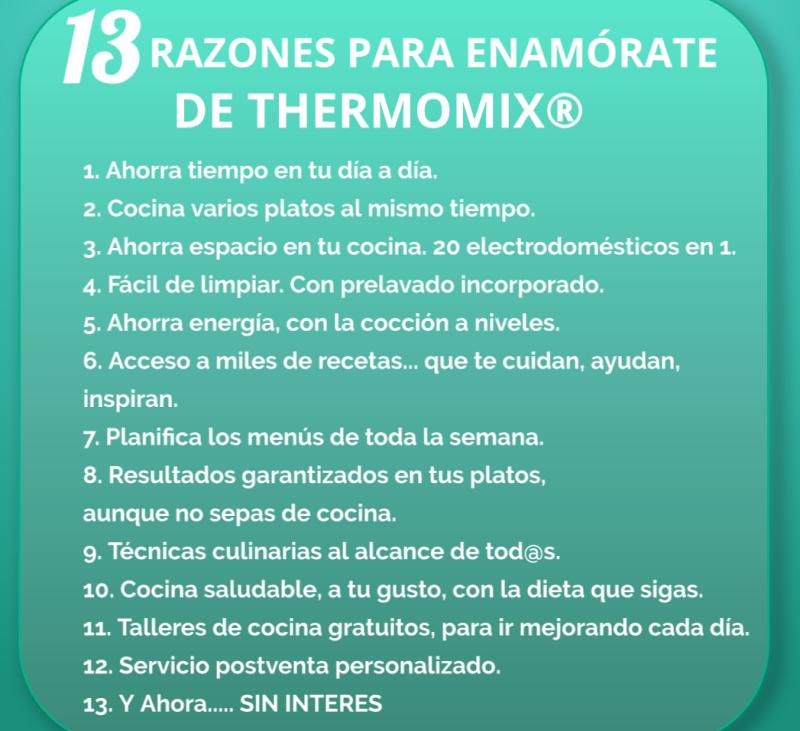 Thermomix® al 0% y 13 motivos para enamorarte
