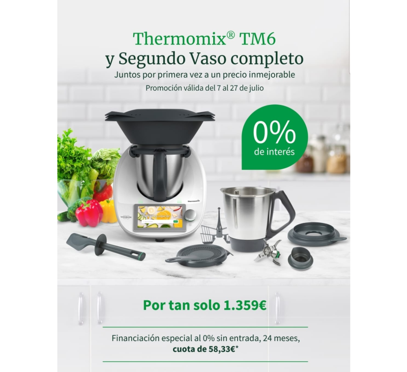 Thermomix® TM6 con 2°vaso y 0% interés