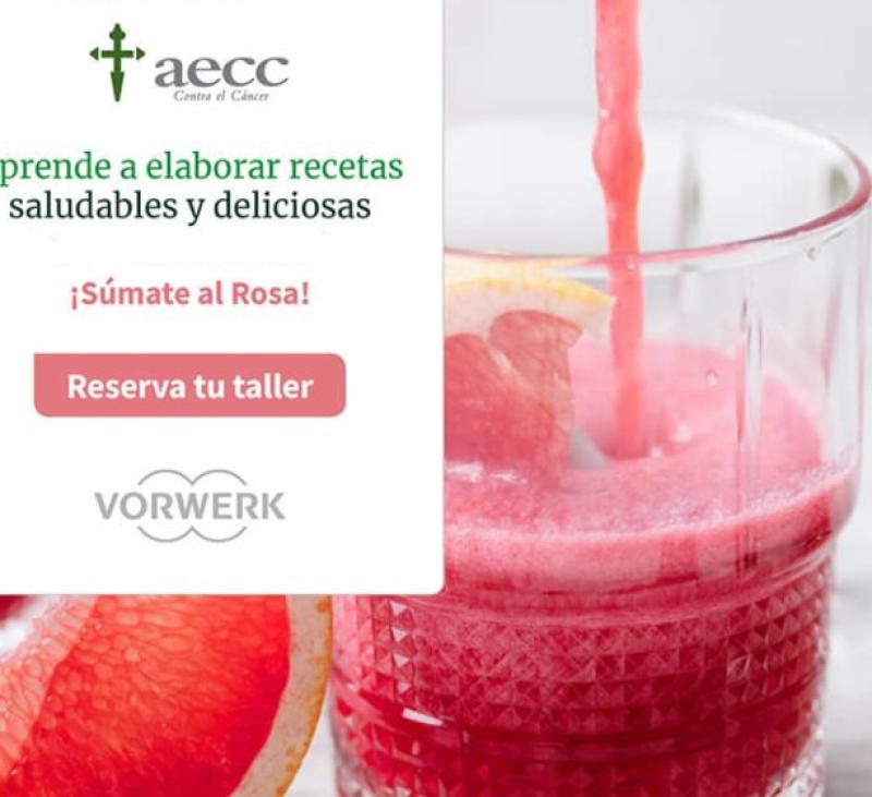 Reserva ahora tu taller de cocina personalizado: aprende a cuidarte, diviértete y ¡Súmate al rosa!