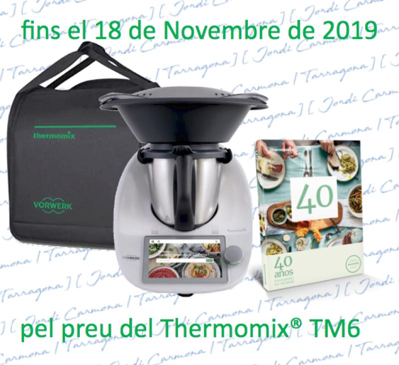 Thermomix® TM6 CON BOLSA Y LIBRO 40 ANIVERSARIO DE REGALO.