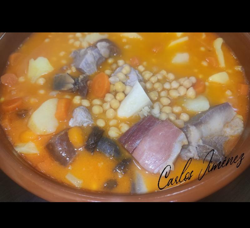 COCIDO EXTREMEÑO EN Thermomix® . Receta actualizada con cubrecuchillas. . Villanueva de la Serena/Don Benito (Badajoz)