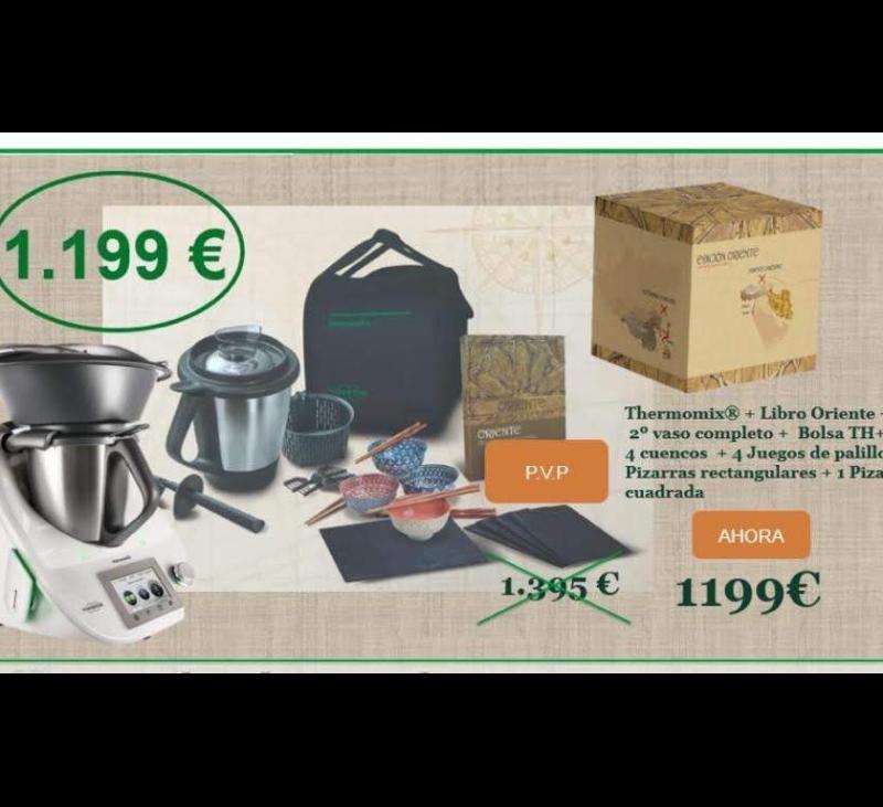 Últimos días: Thermomix® 5 + una edición de regalo...la que prefieras, por solo 1.199€ !!!!