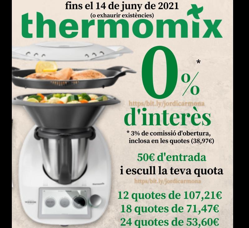 Thermomix® TM6 0% i escull la quota