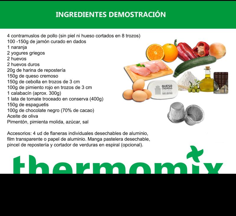 DEMOSTRACIÓN PRESENCIAL Thermomix® - Estupenda experiencia culinaria