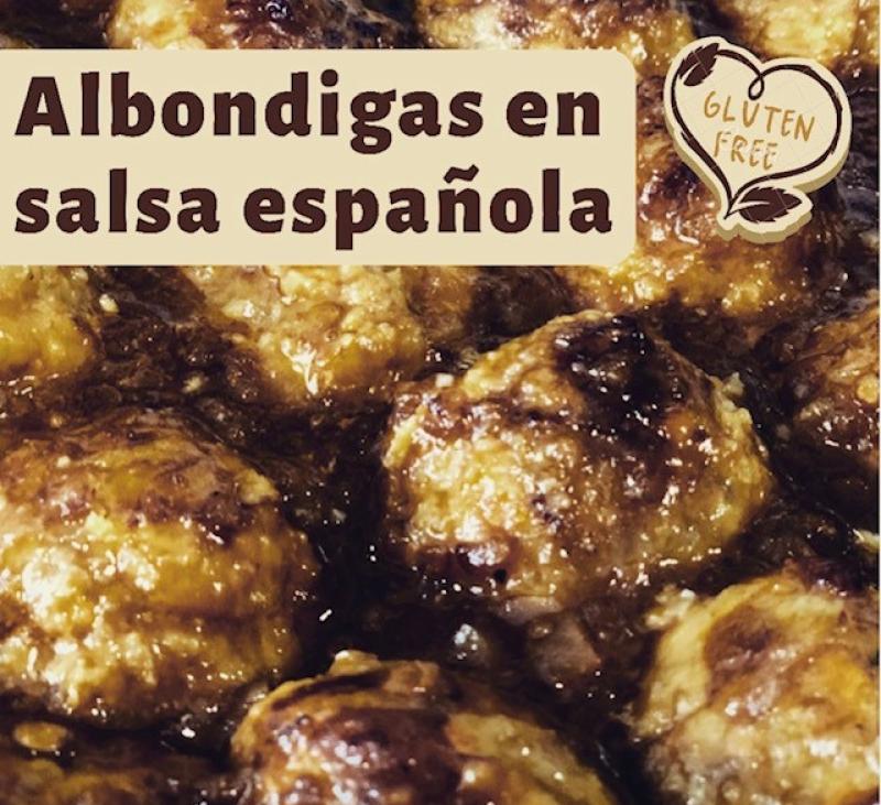 ALBONDIGAS EN SALSA ESPAÑOLA SIN GLUTEN CON Thermomix®