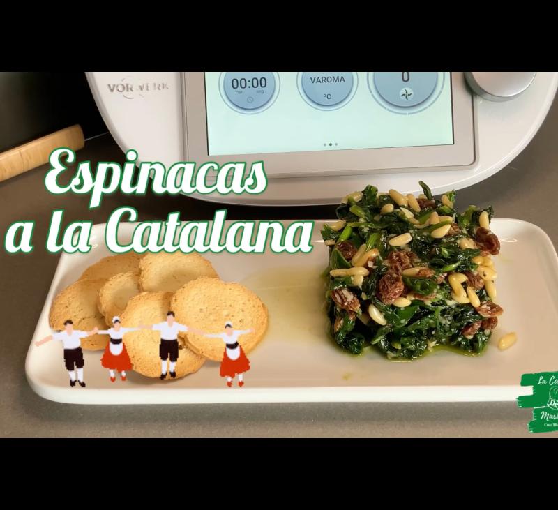 Espinacas a la Catalana con Thermomix® .