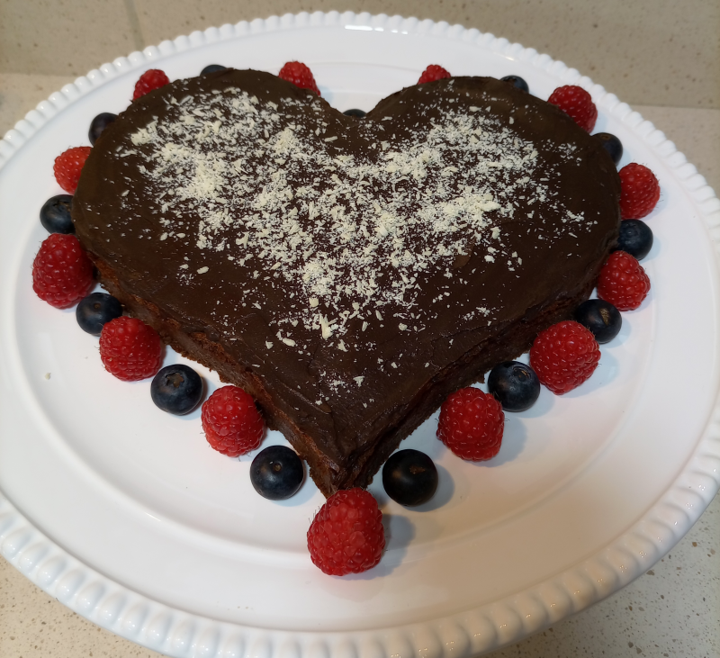 Gâteau magique au chocolat sin azúcar y sin gluten