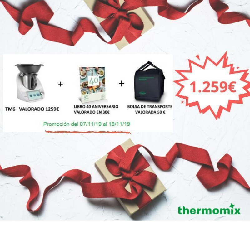 Thermomix® te regala la bolsa de transporte y el libro del 40 aniversario