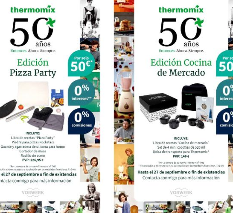 Thermomix® celebra por todo lo alto sus 50 aniversarios