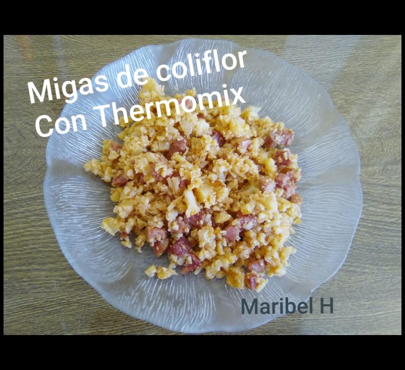 Migas de coliflor con Thermomix®