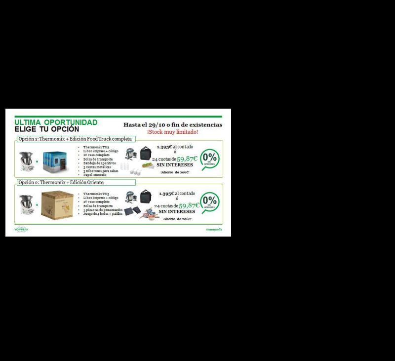 DOS EDICIONES Thermomix® A ELEGIR CON 0%
