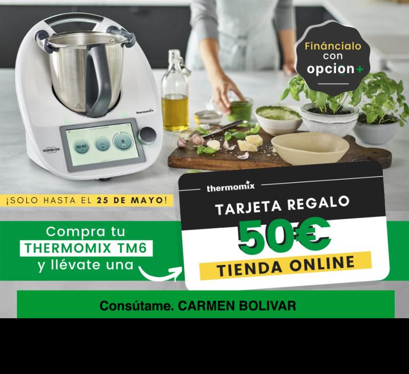 Compra tu Thermomix® Tm6 y te regalamos 50€ de regalo en la tienda online