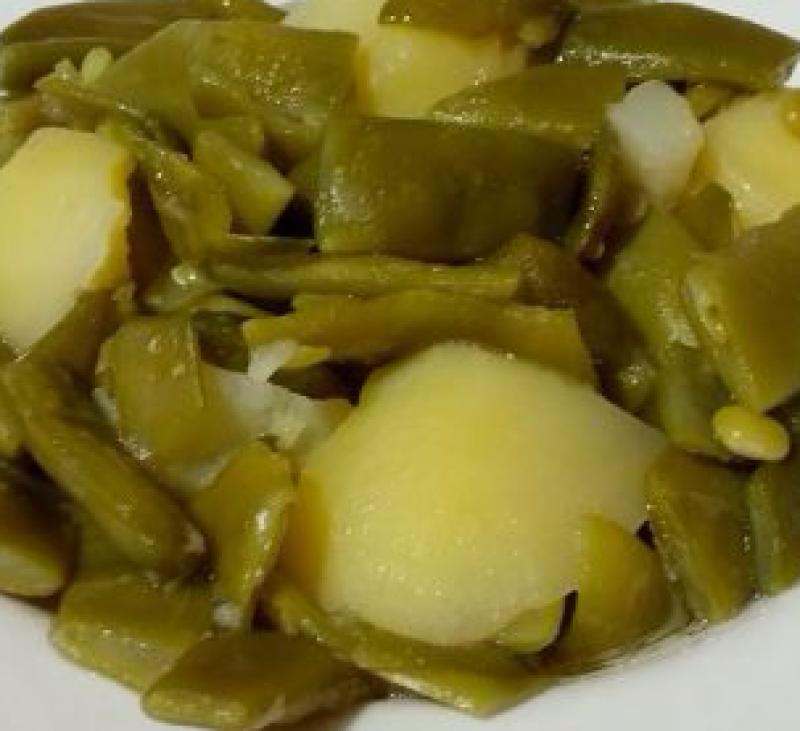 Unas deliciosas alubias (judias) verdes al vapor