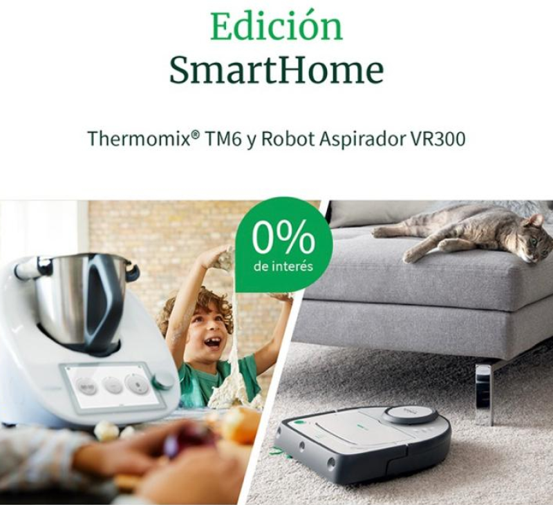 ¡OFERTA FLASH! Thermomix® TM6 y Robot aspirador VR300