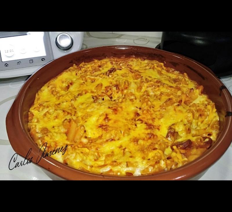 Macarrones con tomate y chorizo XXL en thrmomix. Villanueva de la Serena / Don Benito (Badajoz)