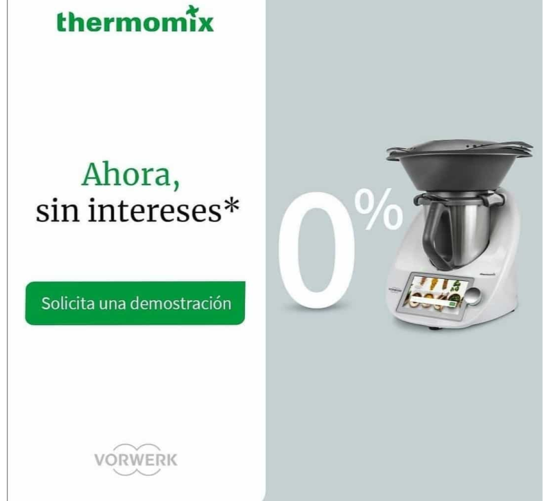 Thermomix® 0% INTERESES A TU MEDIDA. BADAJOZ, VILLANUEVA DE LA SERENA, DON BENITO, MERIDA