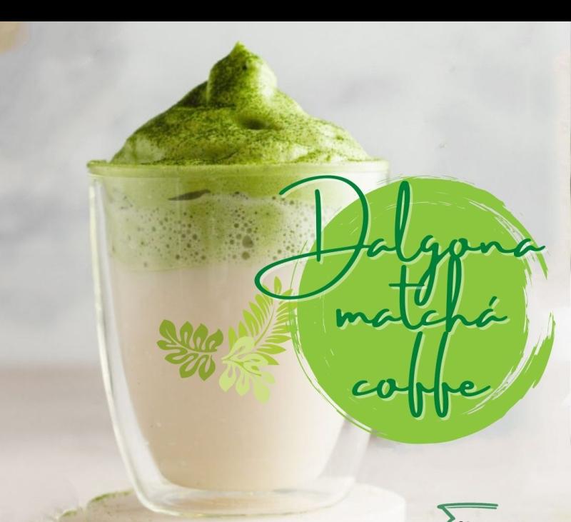 DALGONA MATCHA COFFE EN Thermomix® . BADAJOZ, VILLANUEVA DE LA SERENA, DON BENITO, MERIDA.